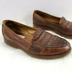 Bally Remo Vibram Woven Leather Loafers Italy